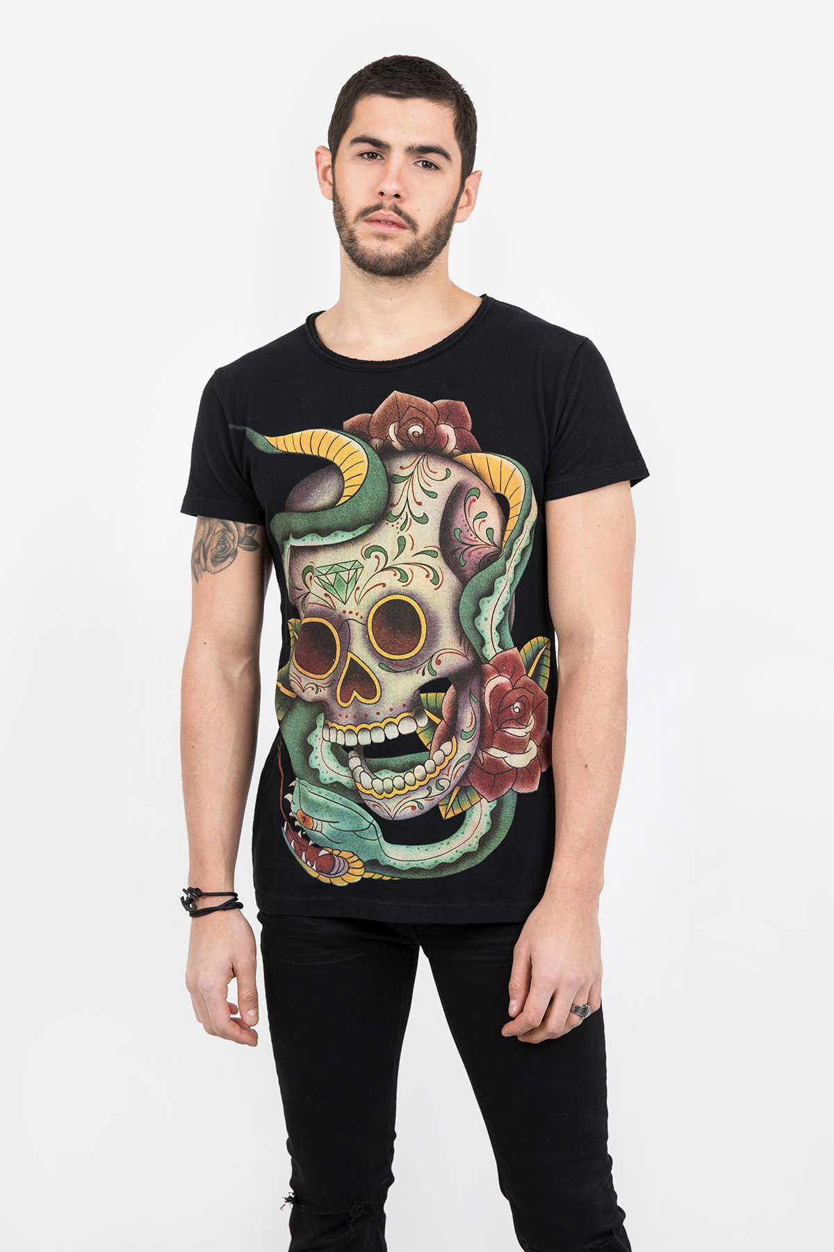 Cheap Sale 2018 Very Cheap Print shirt Moon Skull MSN black Tigha Sale With Credit Card Footaction 1xAcf9