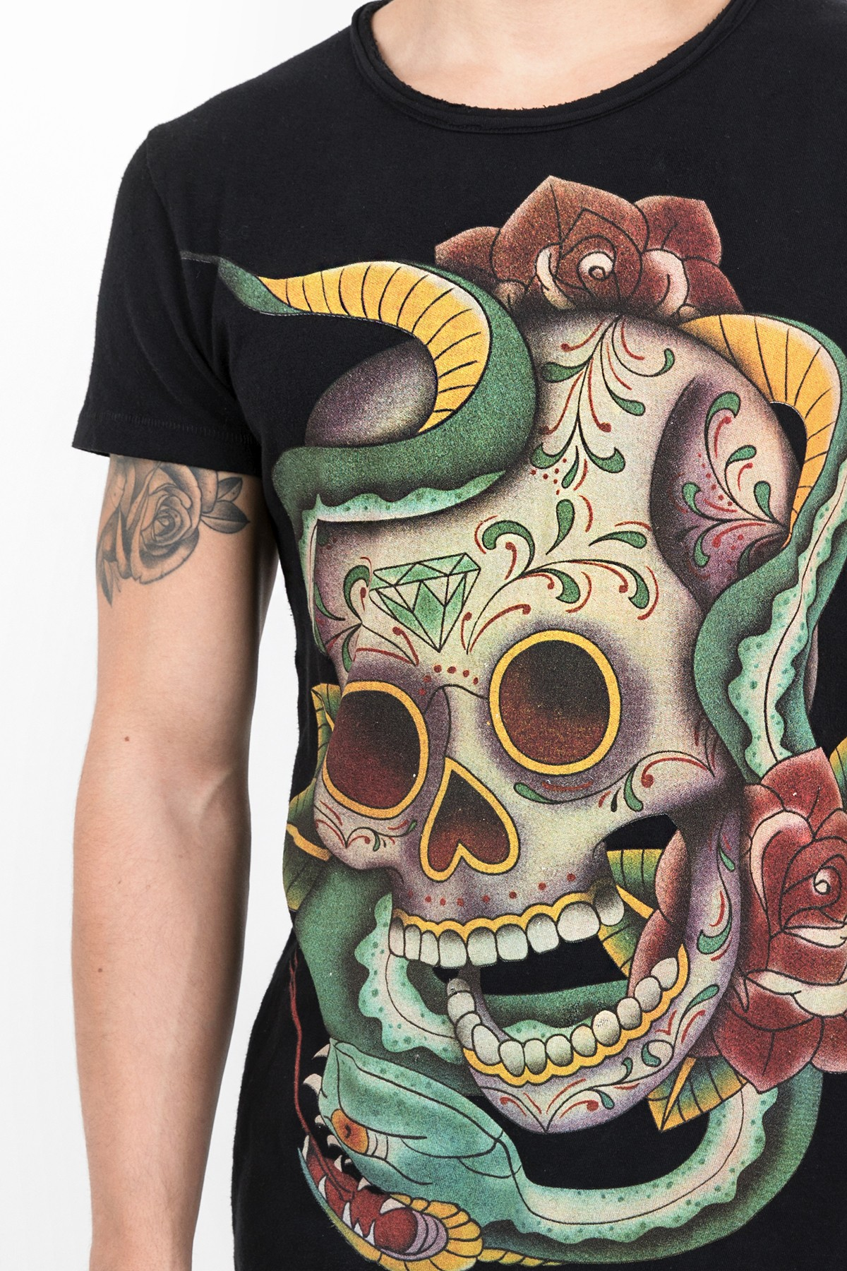 Print Shirts Tattoographic Skull MSN black Tigha Cheap 2018 New Cheap Sale Low Cost Free Shipping Pick A Best Cheap Release Dates CuZJi