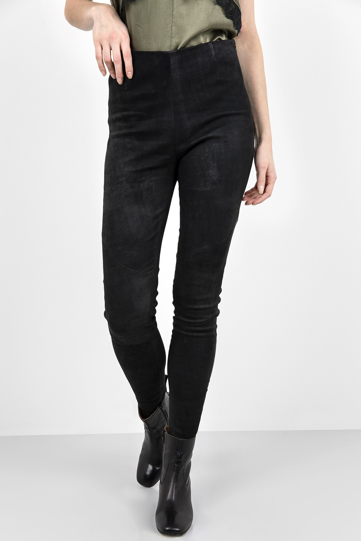 Leather leggings Nori Buffed black Tigha YBs7CAQs2