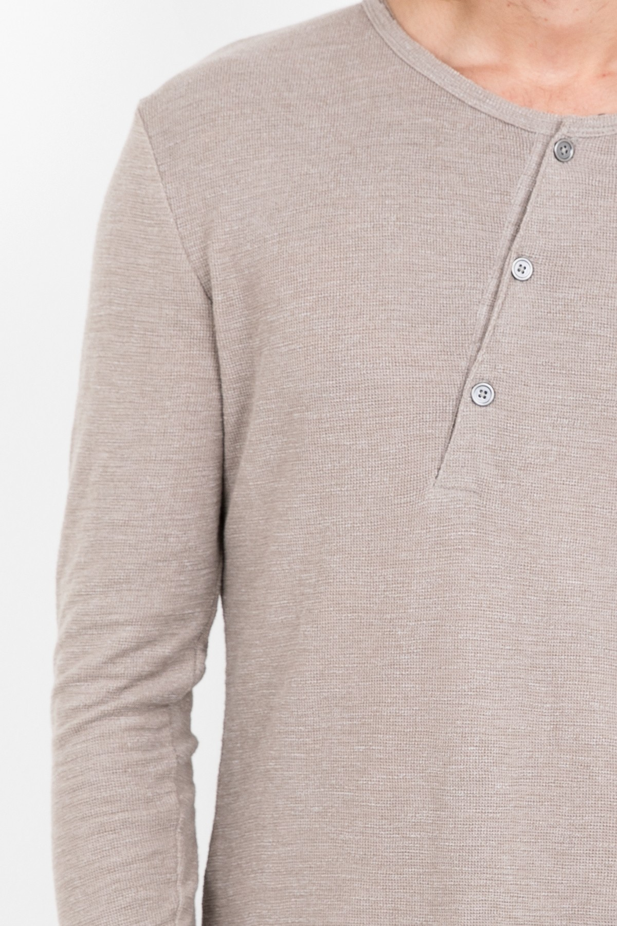 Longsleeve Theon Waffle taupe Tigha Really Sale Online For Cheap Clearance Pre Order JbqJ3yt